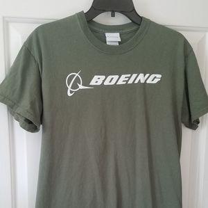 Army Green Boeing Logo Shirt